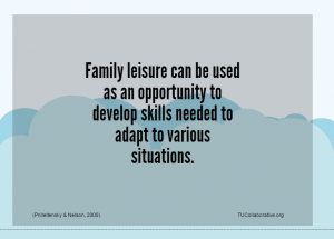 Link to family leisure and skills graphic