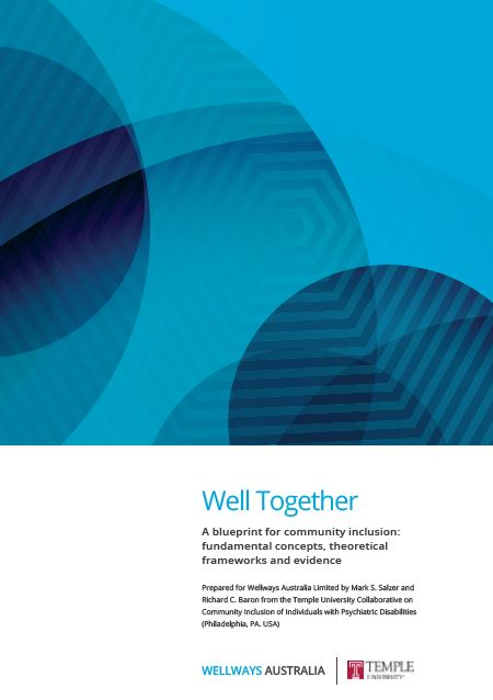 Well together community inclusion fundamentals mental health well together a blueprint for community inclusion fundamental concepts theoretical frameworks and evidence malvernweather Gallery