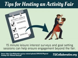 link to meme on Tips for Hosting an Activity Fair